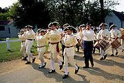 Image of the Yorktown Victory Reenactment Parade in Yorktown, Virginia, east coast