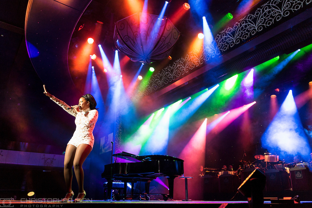 Stephani Parker, performing on board Cunard's Queen Mary 2.<br /> Picture date: Wednesday September 7, 2016.<br /> Photograph by Christopher Ison &copy;<br /> 07544044177<br /> chris@christopherison.com<br /> www.christopherison.com