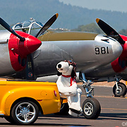 Snoopy Taking a Break at Santa Rosa Airport Air Show