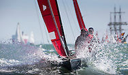 Image licensed to Lloyd Images <br /> Aberdeen Asset Management Cowes Week 2015. Day 2 of racing, picture shows the &quot;Red Wing&quot; fleet  <br /> Credit: Lloyd Images