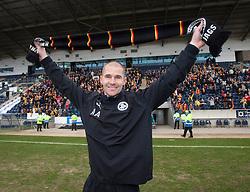Partick Thistle's manager Alan Archibald..Partick Thistle cele winning the Scottish Football League Division One..Falkirk 0 v 2 Partick Thistle, 20/4/2013..© Michael Schofield.