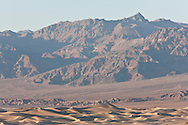 Mesquite Flat Dunes and Amargosa range at sunet - Death Valley National Park, California
