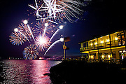 Barron Hilton's fireworks show over the Venice Island Duck Club in the Delta, July 4, 2010.
