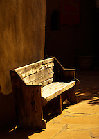 An empty bench...New Mexico.