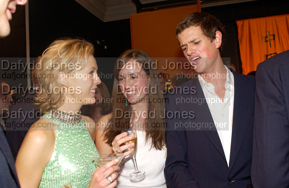 Lady Alexandra Spencer-Churchill, Lady Rose Innes-Ker and Alexander Spencer -churchill, Sothebys's Summer party, 7 June 2004. ONE TIME USE ONLY - DO NOT ARCHIVE  © Copyright Photograph by Dafydd Jones 66 Stockwell Park Rd. London SW9 0DA Tel 020 7733 0108 www.dafjones.com