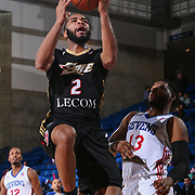Erie BayHawks Guard AARON HARRISON (2) drives to the basket for a easy layup in the first half of a NBA D-league regular season basketball game between the Delaware 87ers and the Erie BayHawks Tuesday, Mar. 29, 2016, at The Bob Carpenter Sports Convocation Center in Newark, DEL.