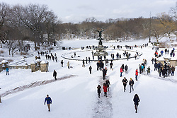 Central Park in the Wintertime at The Bethesda Fountain