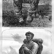 The escaped slave, and the escaped slave as a soldier in the Union Army. Harper's Weekly, July 2, 1864