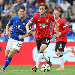 Manchester United's Daley Blind on the ball during the Barclays Premiership match between Leicester City FC and Manchester United FC, at the King Power Stadium, Leicester, 21st September 2014 © Phil Duncan | SportPix.org.uk