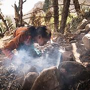 Hifti Nugs, 12, at home, Adi Sibhat, Tigray, Ethiopia