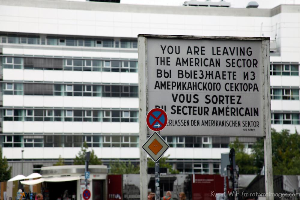 Europe, Germany, Berlin. The American Sector Marker in Berlin.