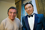 "Famous Czech popular singer Karel Gott with his own wax figure at his former museum ""Gottland"" in Jevany close to Prague."