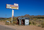 Out buildings for Mike's Outpost Saloon in Kingman, Arizona.A trip through parts of Route 66 from Southern California to Arizona.