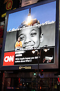 3 March 2011- New York, NY-  A UNCF Digital Billboard sponsored by Thomas Reuters at corner of West 46th Street and Broadway shines bright in honor of the UNCF on March 3, 2011 in New York City. Photo Credit: Terrence Jennings for Ebony.com