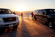 NC00844-00...NORTH CAROLINA - Surf fishing at Cape Hatteras in Cape Hatteras National Seashore.