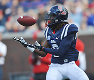 Mississippi wide receiver Quincy Adeboyejo (8) makes a touchdown catch against Troy at Vaught-Hemingway Stadium in Oxford, Miss. on Saturday, November 16, 2013. (AP Photo/Oxford Eagle, Bruce Newman)