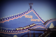 OLD WOODEN ROLLERCOASTER, FAIRGROUND, GREAT YARMOUTH