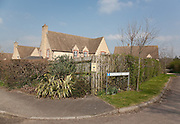 Faux Cotswold rustic cul-de-sac housing development North Nibley, Gloucestershire
