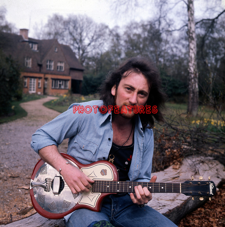 Deep Purple 1975 Roger Glover at his home.<br /> &copy; Chris Walter