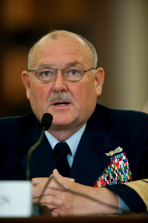 May 18,2010 - Washington, District of Columbia USA - Coast Guard Commandant Adm. Thad Allen appears before the Senate Commerce, Science and Transportation Committee for a hearing on the response to the accident involving the Deepwater Horizon in the Gulf of Mexico.(Credit Image: © Pete Marovich/ZUMA Press)