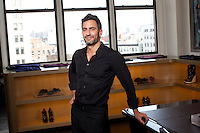 Fashion designer Marc Jacobs in his New York offices and show room. ..Photo by Robert Caplin.
