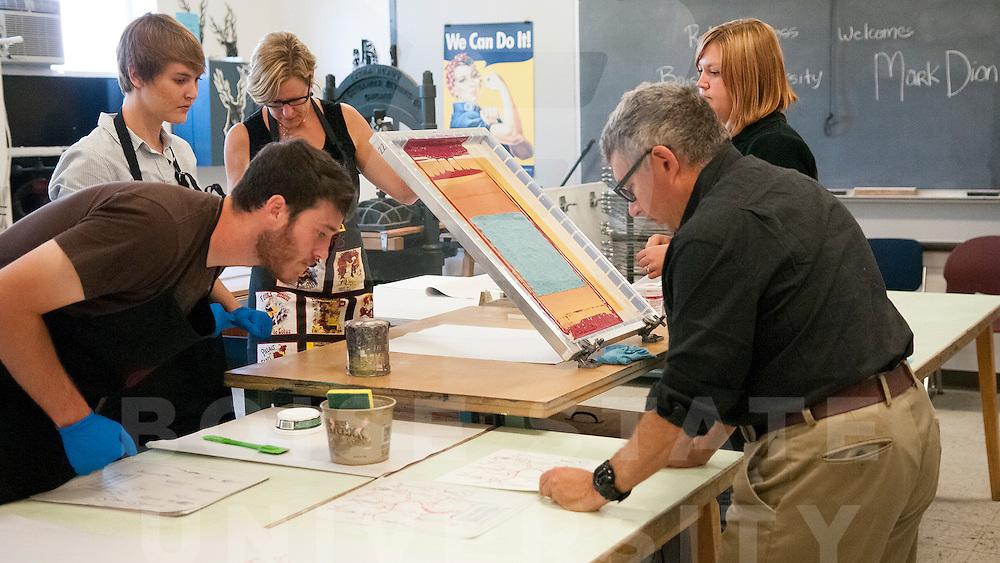 Visiting artist, Mark Dion, printmaking, art, art department, anm