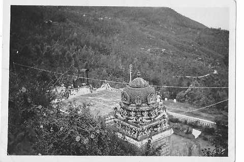 &quot;Hindu Temple, location unknown, possibly tea country?&quot;<br />