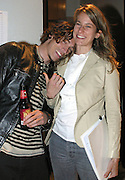 Brandon Boyd of Incubus with Blender magazine writer Clarissa Lasky backstage at KROQ's Dysfunctional Family Picnic Concert at Jones Beach Theater in Long Island, NY; June 8, 2002. Photo by Sara Jaye/PictureGroup