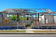 Hurricane damaged building in Playa Baracoa, Artemisa, Cuba.