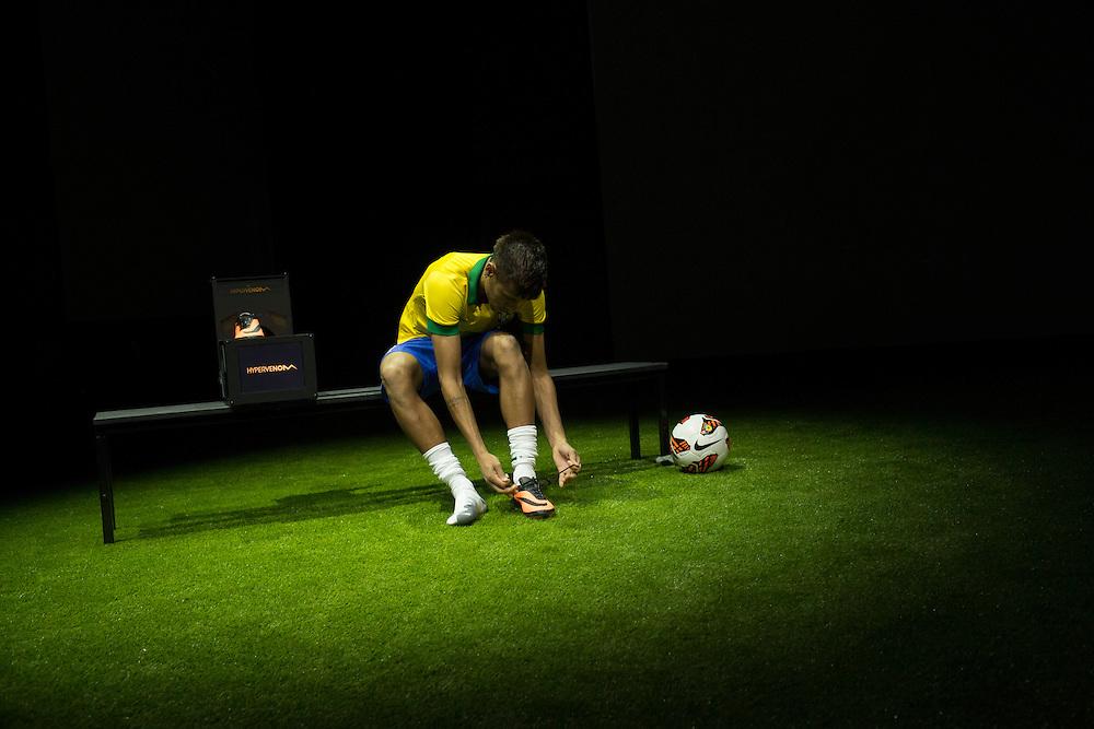 Rio de Janeiro, Brazil, May 28 of 2013:  Neymar at the Hypervenom launch, in Rio de Janeiro.  (photo: Caio Guatelli)