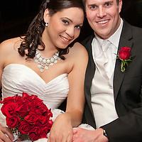 Bride and Groom at Cardinal Club Raleigh, NC