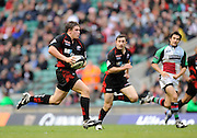 Twickenham, GREAT BRITAIN,  Saracens, Adam POWELL,  running through to score a second half try, during the Guinness Premiership match,  Saracens vs Harlequins, at Twickenham Stadium, Surrey on Sat 06.09.2008. [Photo, Peter Spurrier/Intersport-images]
