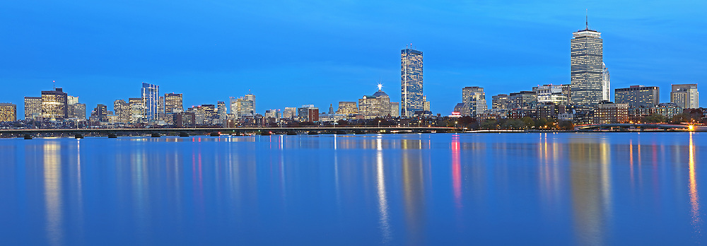 Stunning Boston skyline panorama photography from New England based award winning fine art photographer Juergen Roth. This panorama photo images shows familiar Boston landmarks such as the Prudential Center and 200 Clarendon office building formerly known as John Hancock Tower in the Back Bay, the Massachusetts State House and the newly constructed Millennium Tower in Beacon Hill as seen from Cambridge, MA Memorial Drive one of Boston&rsquo;s best photo locations. <br /> <br /> Boston panorama night photography images are available as museum quality photo prints, canvas prints, acrylic wall art prints, wood image prints or metal fine art prints. Fine art prints may be framed and matted to the individual liking and decorating needs: <br /> <br /> http://juergen-roth.pixels.com/featured/boston-charles-river-skyline-panorama-photography-image-juergen-roth.html<br /> <br /> All Boston photos are available for digital photography image licensing at www.RothGalleries.com. The image can also be printed as very large art prints and used for murals. Please contact me direct with any questions or request. <br /> <br /> Good light and happy photo making!<br /> <br /> My best,<br /> <br /> Juergen<br /> Image Licensing: http://www.RothGalleries.com <br /> Fine Art Prints: http://juergen-roth.pixels.com<br /> Photo Blog: http://whereintheworldisjuergen.blogspot.com<br /> Twitter: https://twitter.com/naturefineart<br /> Facebook: https://www.facebook.com/naturefineart <br /> Instagram: https://www.instagram.com/rothgalleries