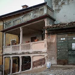 Decadent architecture in Santa Maria Del Monte in Varese, Italy