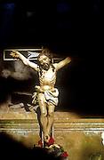 Altar,  Catholic Church in Kayts, Jaffna...Crucifix...March 2002