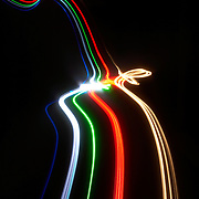 Abstract light trails