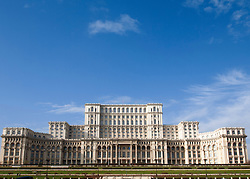 The Parliament Palace now home to Romanian Senate in Bucharest Romania