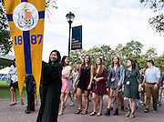 The Class of 2020 before the Academic Convocation at St. Aloysius Church. (Photo by Edward Bell)