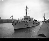 1952 - French Naval vessels at Dublin Port