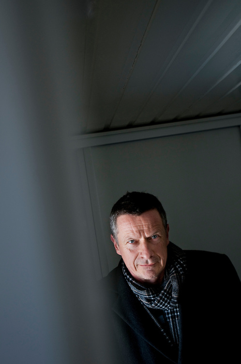 Writer Niels Fredrik Dahl photographed at his home in Oslo, Norway..Photographer: Chris Maluszynski /MOMENT
