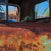Rusted Truck Cab Door - Motor Transport Museum - Campo, CA