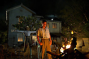 Scene 1-98: Guy Fawkes Night - Stephen Curry as Sam Pickles and Geoff Morrell as Lester Lamb - Photograph by David Dare Parker