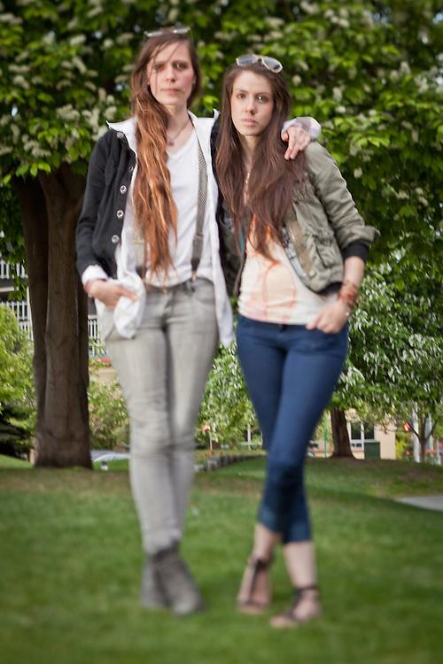 Megan Stalder and Kamilah Brangan, Town Square, downtown, Anchorage