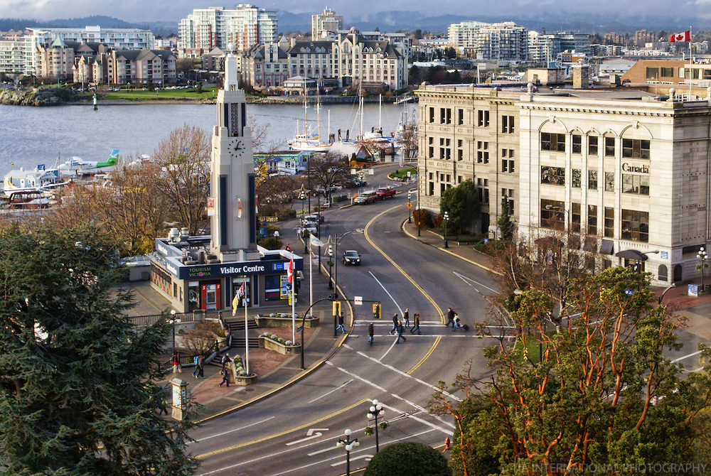 Intersection, Wharf & Government Streets, Victoria, British Columbia, Canada