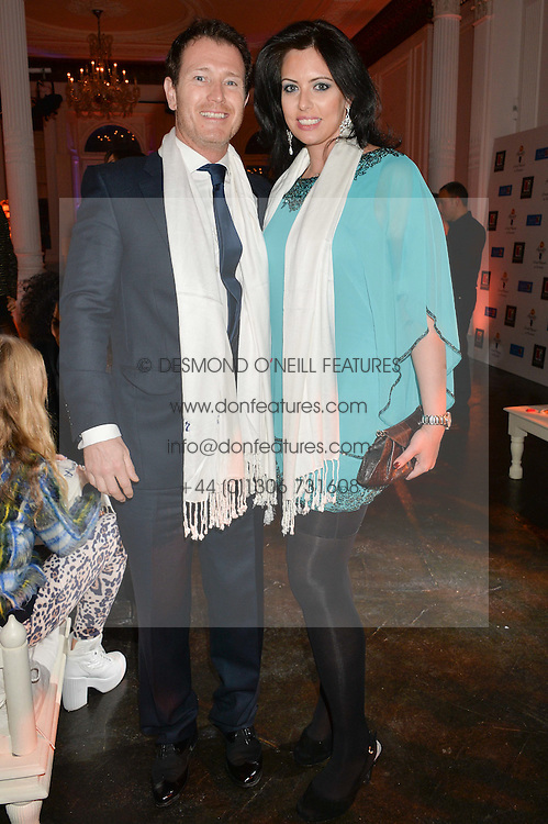 Actor NICK MORAN and fiance JASMIN DURAN at White by Agadir hosted by the Moroccan National Tourist Office to celebrate the White City in Morocco in the presence of H.H.Princess Lalla Joumala, Ambassador of HM The King of Morocco held at Il Bottaccio, 9 Grosvenor Place, London on 4th November 2014.