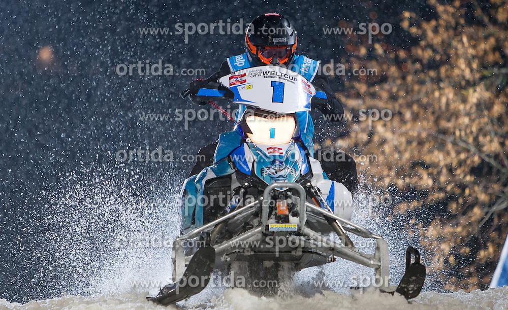 07.12.2014, Saalbach Hinterglemm, AUT, Snow Mobile, im Bild Skicircus Saalbach Hinterglemm Leogang // during the Snow Mobile Event at Saalbach Hinterglemm, Austria on 2014/12/07. EXPA Pictures © 2014, PhotoCredit: EXPA/ JFK