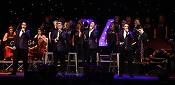 G4 (Jonathan Ansell, Mike Christie, Ben Thapa and Nick Ashby) perform at Worthing Pavilion, Worthing on Sunday 19 March 2017 as part of their G4 Live In Concert Tour 2017  showcasing songs from their new 5th Studio album G4 Love Songs. Guests at this concert were multi-instrumentalist Oli Nez, Soprano Mary-Jess and Sorrelli Strings. Guests at the London venue on the tour held at Union Chapel were soprano Lesley Garrett and lead singer of The Osmonds, Merrill Osmond who both collaborated with the G4 Love Songs Album.<br /> <br /> This concert also included the debut performance of G4 Voices.This choir is based in Portsmouth but G4 are hoping to create branches of G4 Voices all around the country.