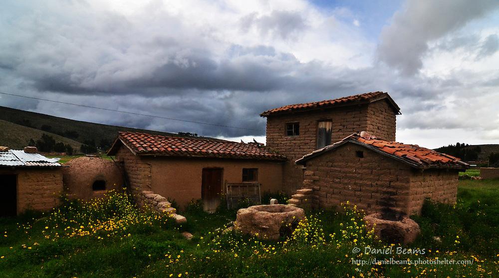 Adobe house in Vacas, Cochabamba, Bolivia