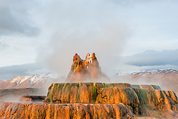 """Fly Geyser 5"" - Photograph of the famous man made Fly Geyser in Nevada."