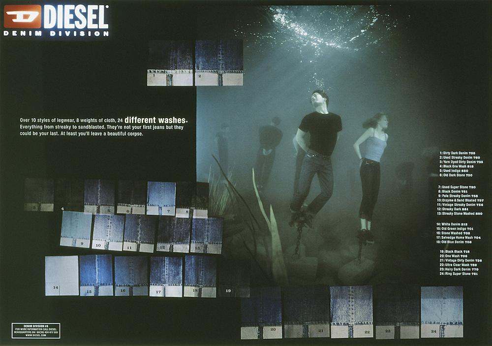 Underwater Diesel Jean Advertisement<br /> Photography by Zac Macaulay<br /> Tel 0044 07947 884 517<br /> www.linkphotographers.com